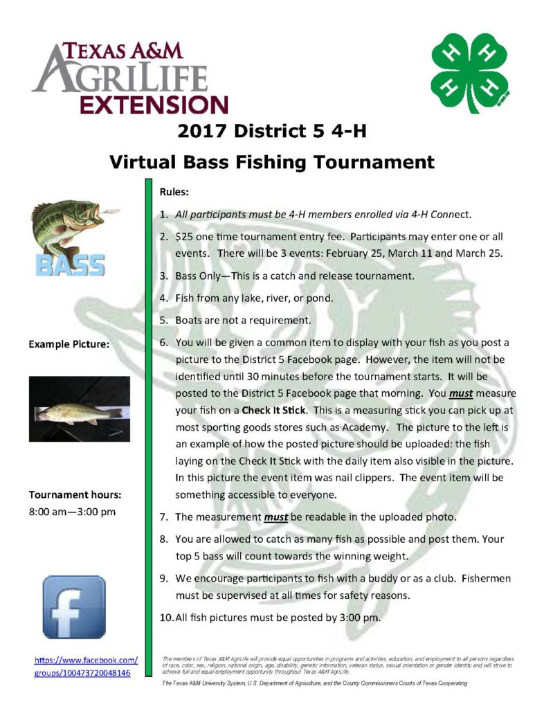 2016 2017 bass fishing tournament virtual for Fishing tournaments in texas 2017